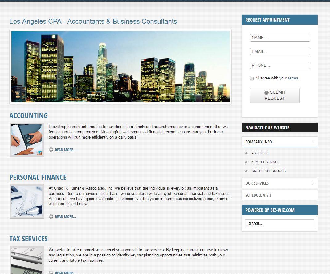 Accountant Website Design crt3