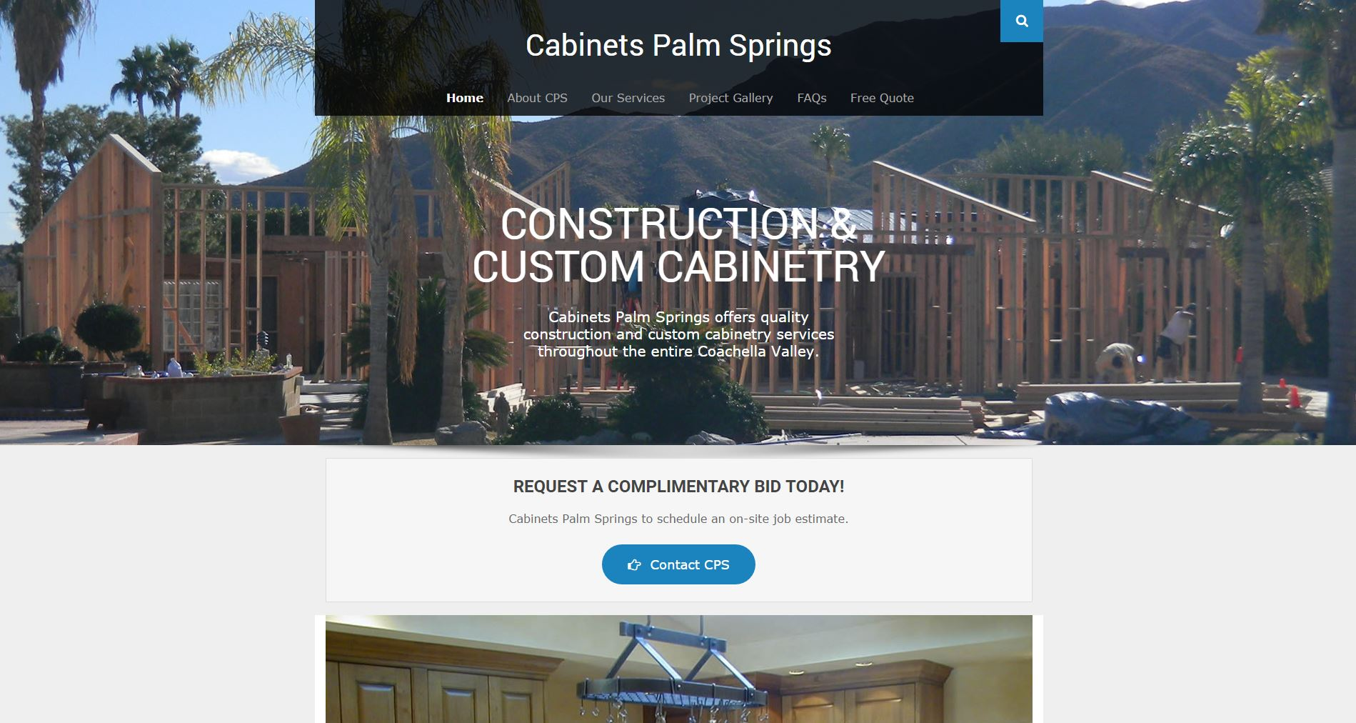 Cabinetry Construction Website Design cps1