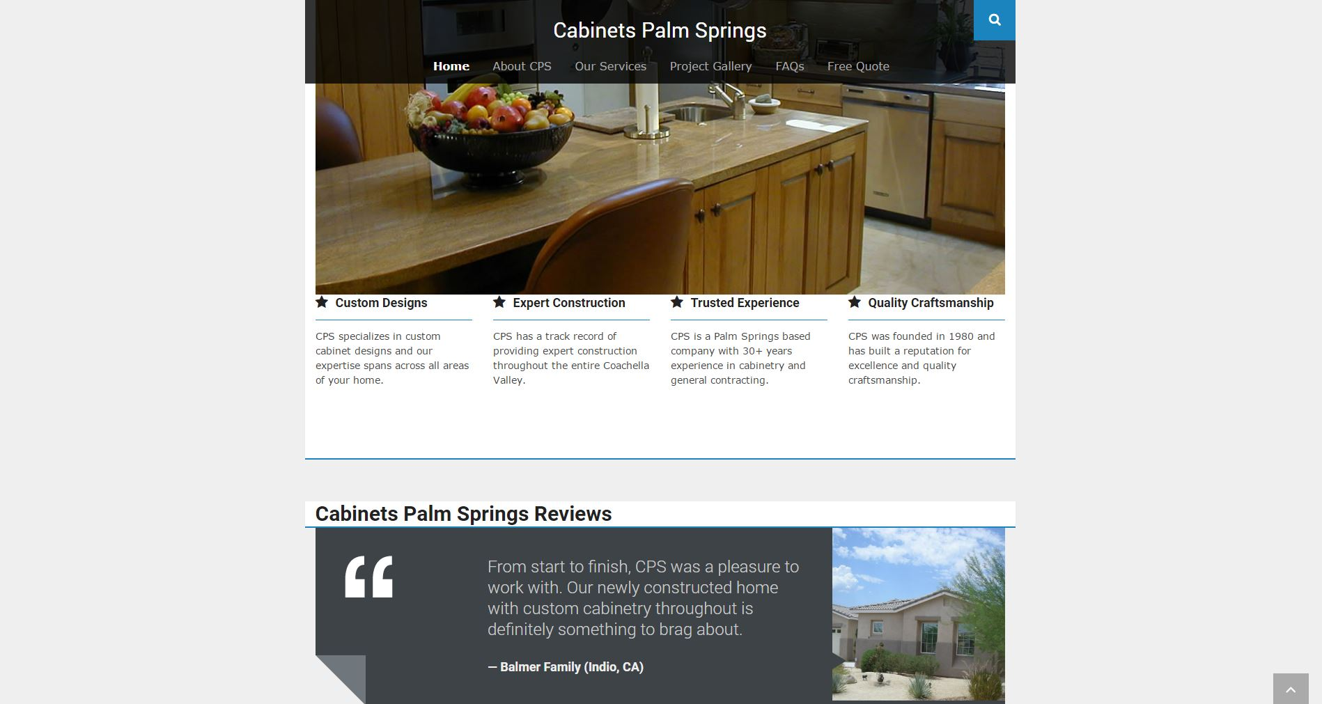 Cabinetry Construction Website Design cps2