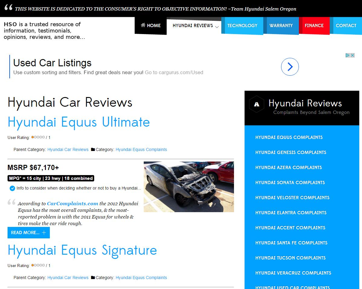 Hyundai Salem Oregon – SEO Web Design, LLC