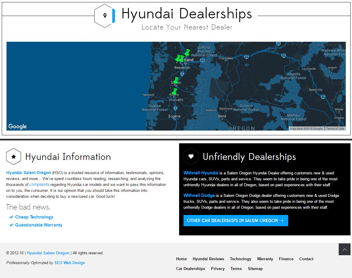 Car Dealer Website Design hso3