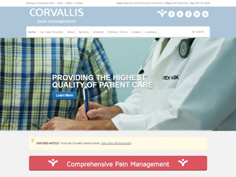 Medical Doctor Website Design cpm1