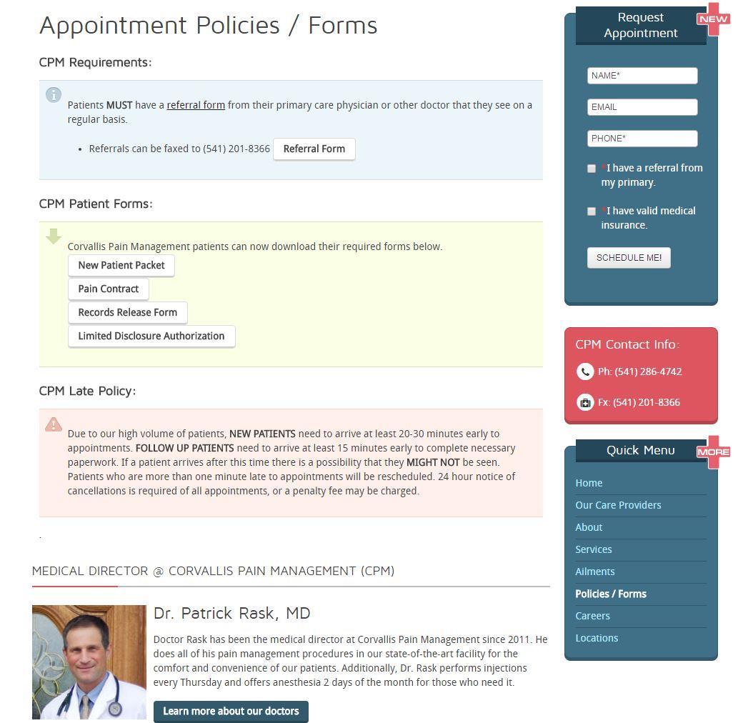 Medical Doctor Website Design cpm4