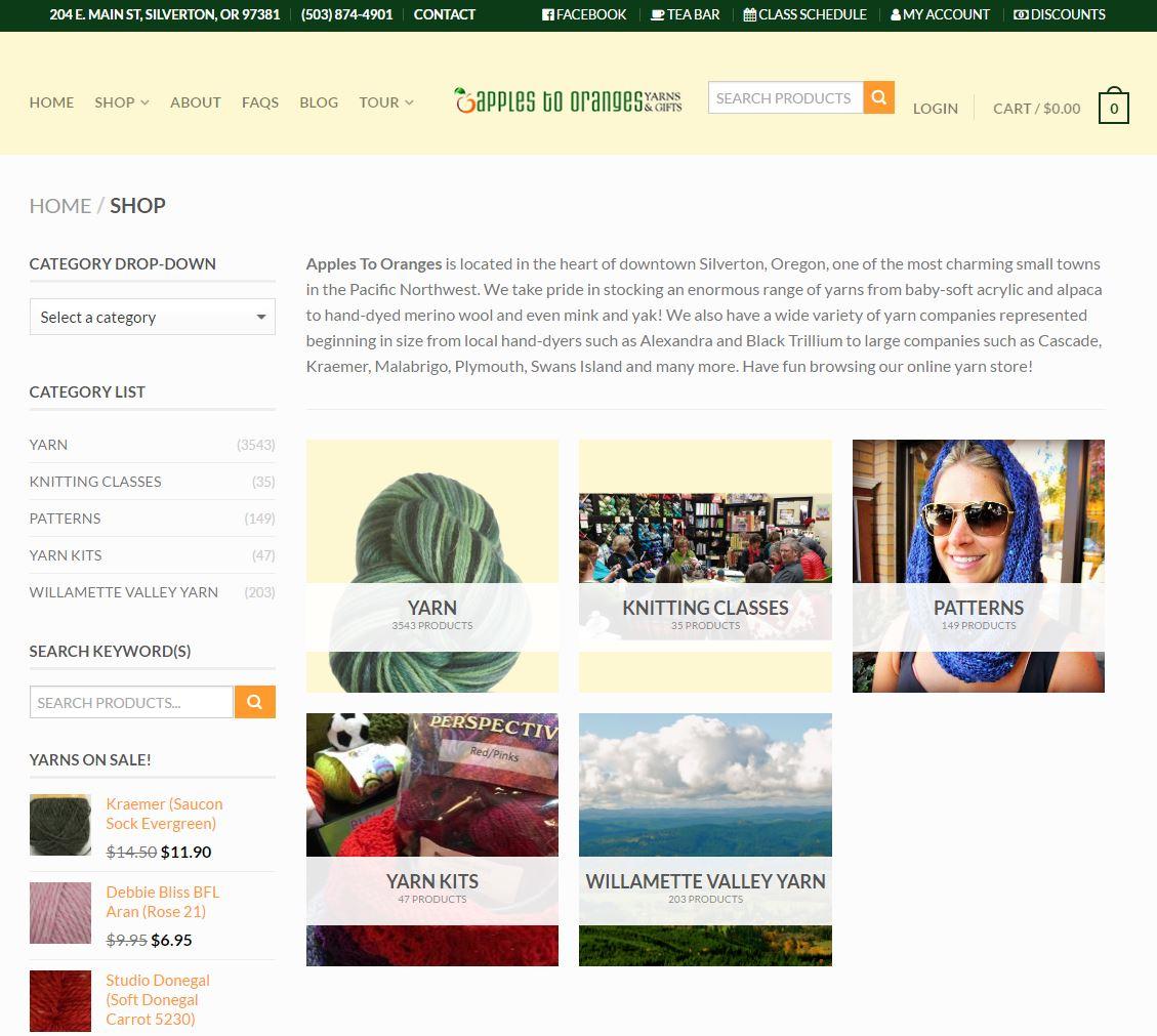 E-commerce Website Design a2o2