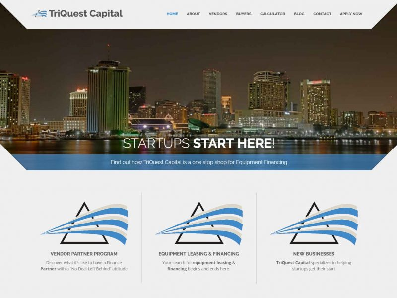 Finance Website Design tqc1