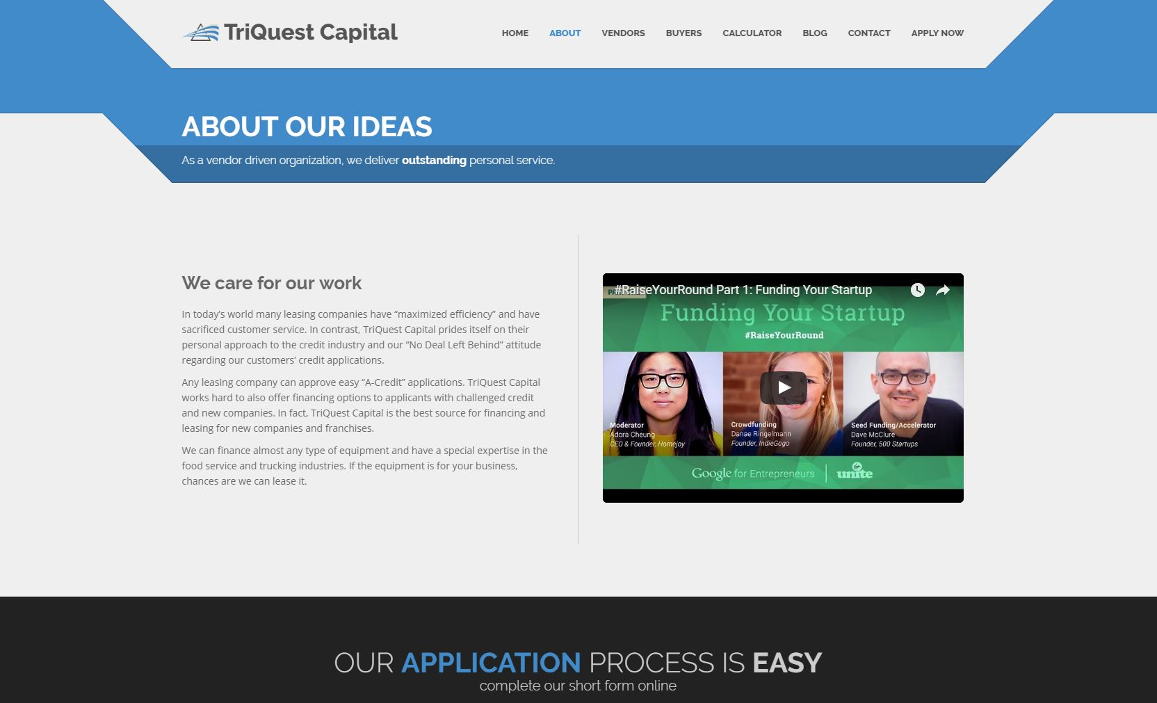 Finance Website Design tqc2