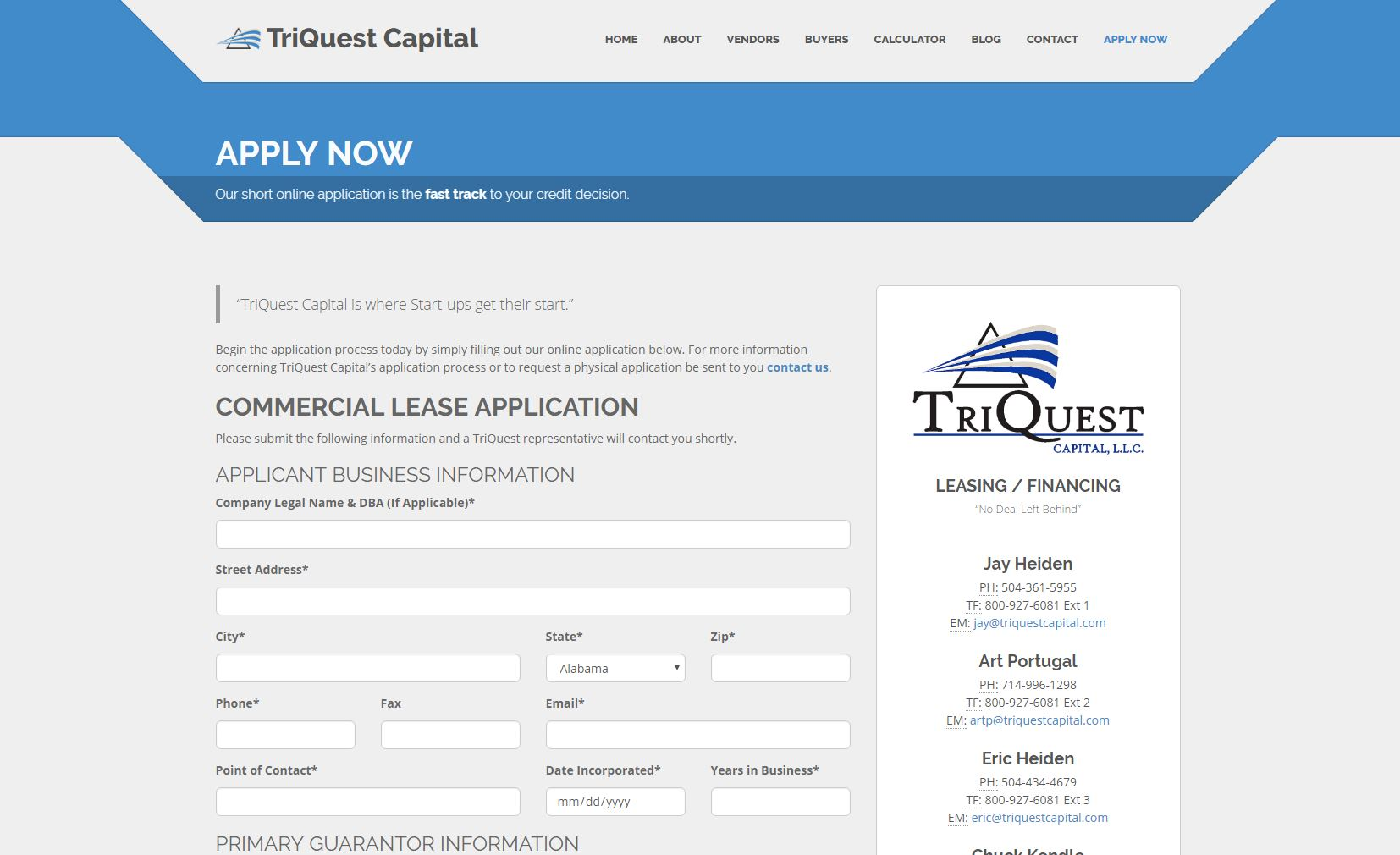Finance Website Design tqc3