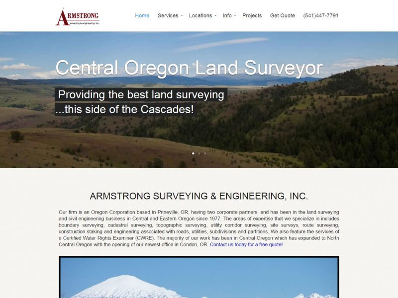 Land Surveyor Website Design ase1