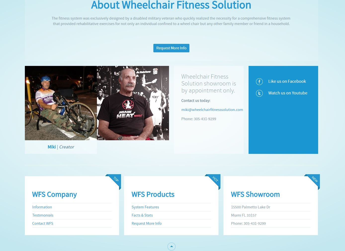 Niche Product Website Design wfs2