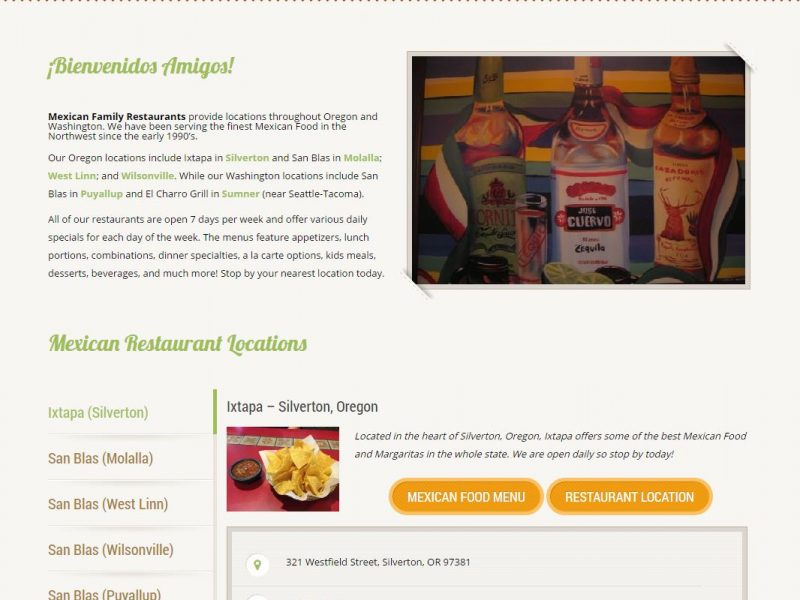 Restaurant Website Design mfr1