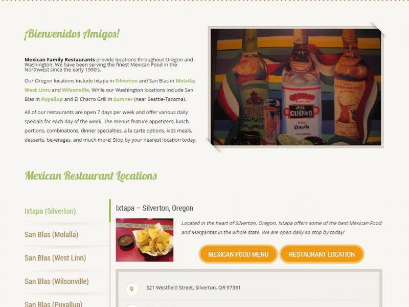 Restaurant Website Design mfr1