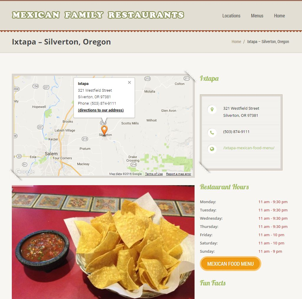 Restaurant Website Design mfr2