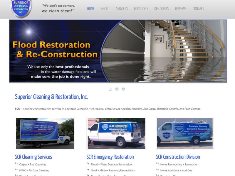 Water Damage Website Design scr1