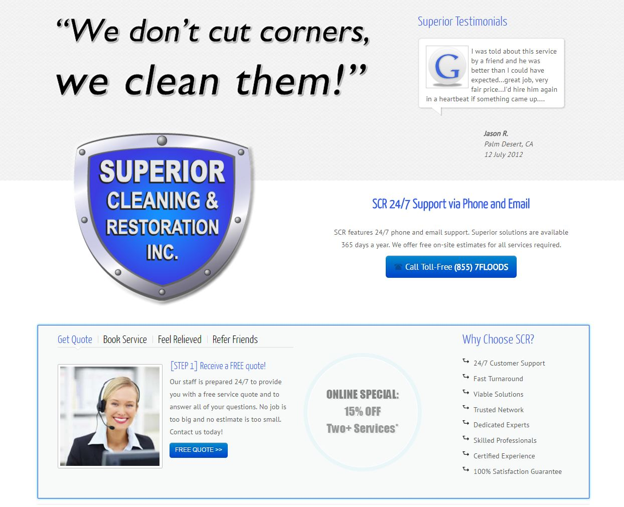 Water Damage Website Design scr2