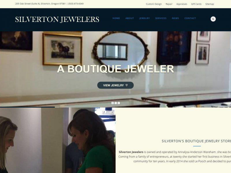Jewelry Website Design sj1