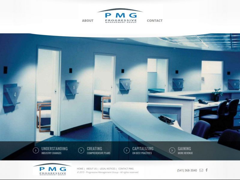 Medical Business Management Website Design pmg1