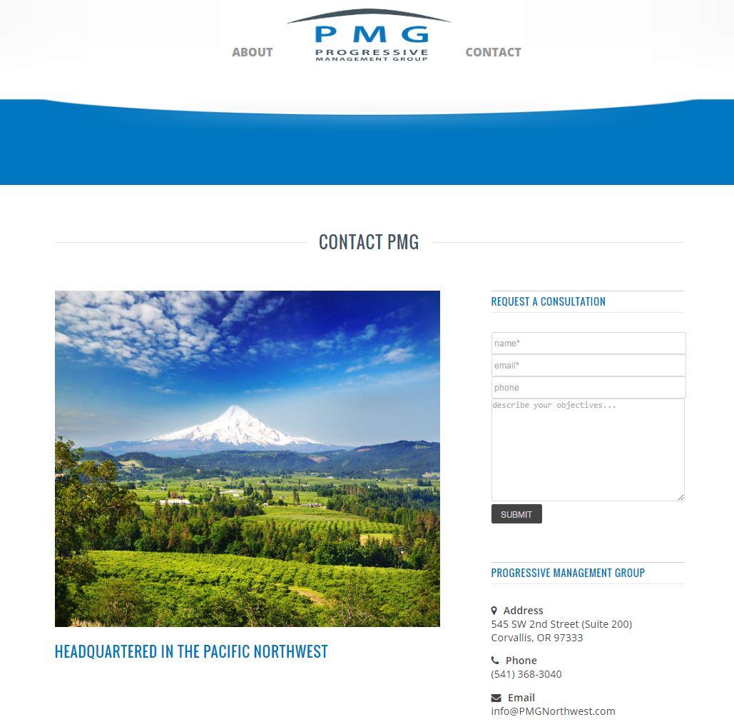 Medical Business Management Website Design pmg3