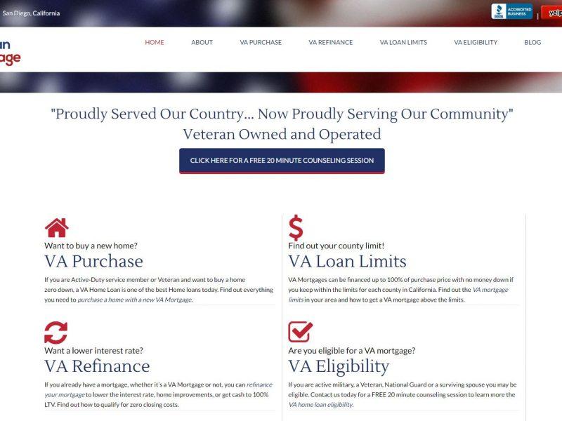 Mortgage Finance Website Design vm1