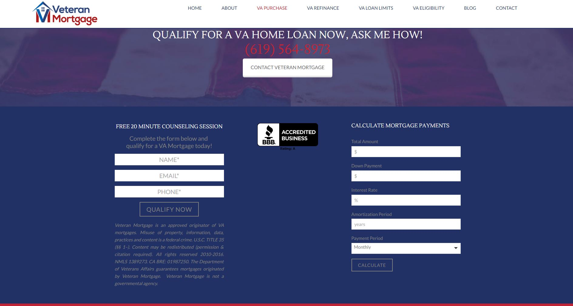 Mortgage Finance Website Design vm3