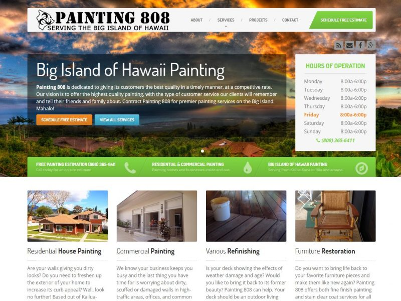 Painting Contractor Website Design p808a