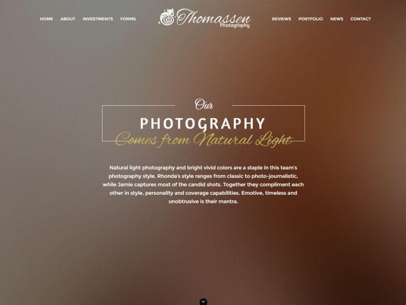 Photography Website Design tp1