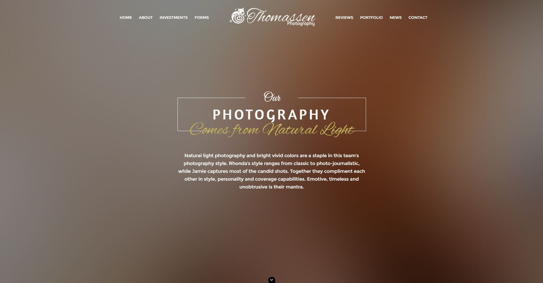 Photography Website Design tp1
