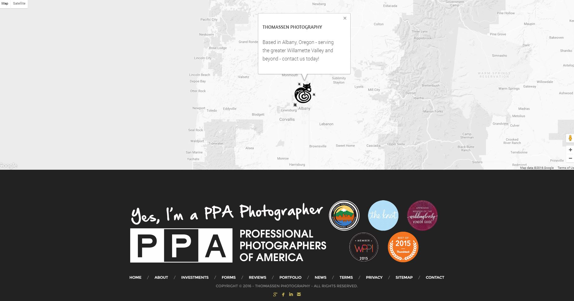 Photography Website Design tp3