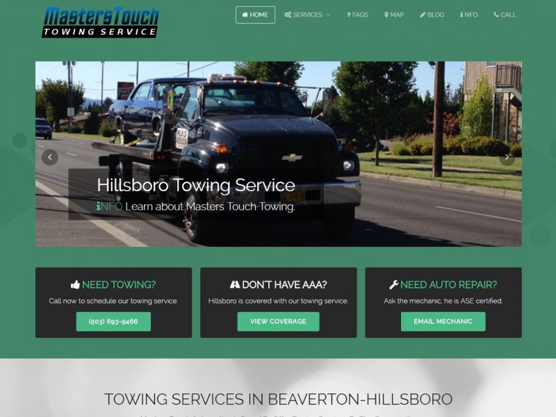 Towing Website Design hft1