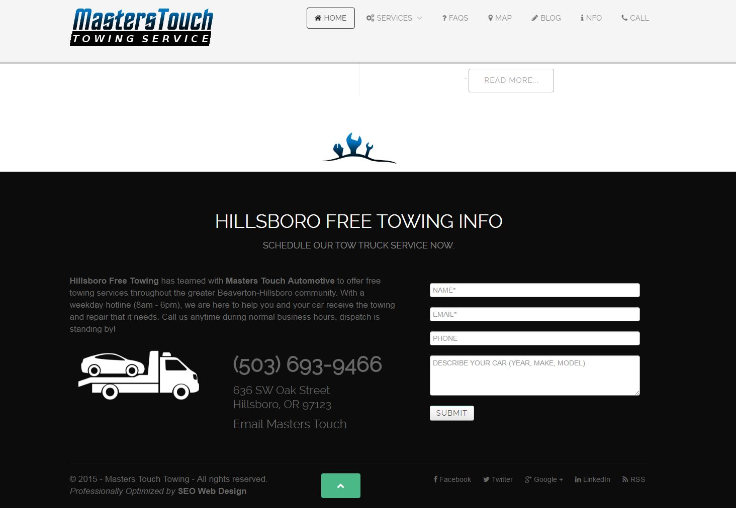 Towing Website Design hft3