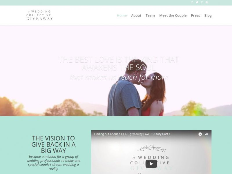 Wedding Vendor Website Design awc1
