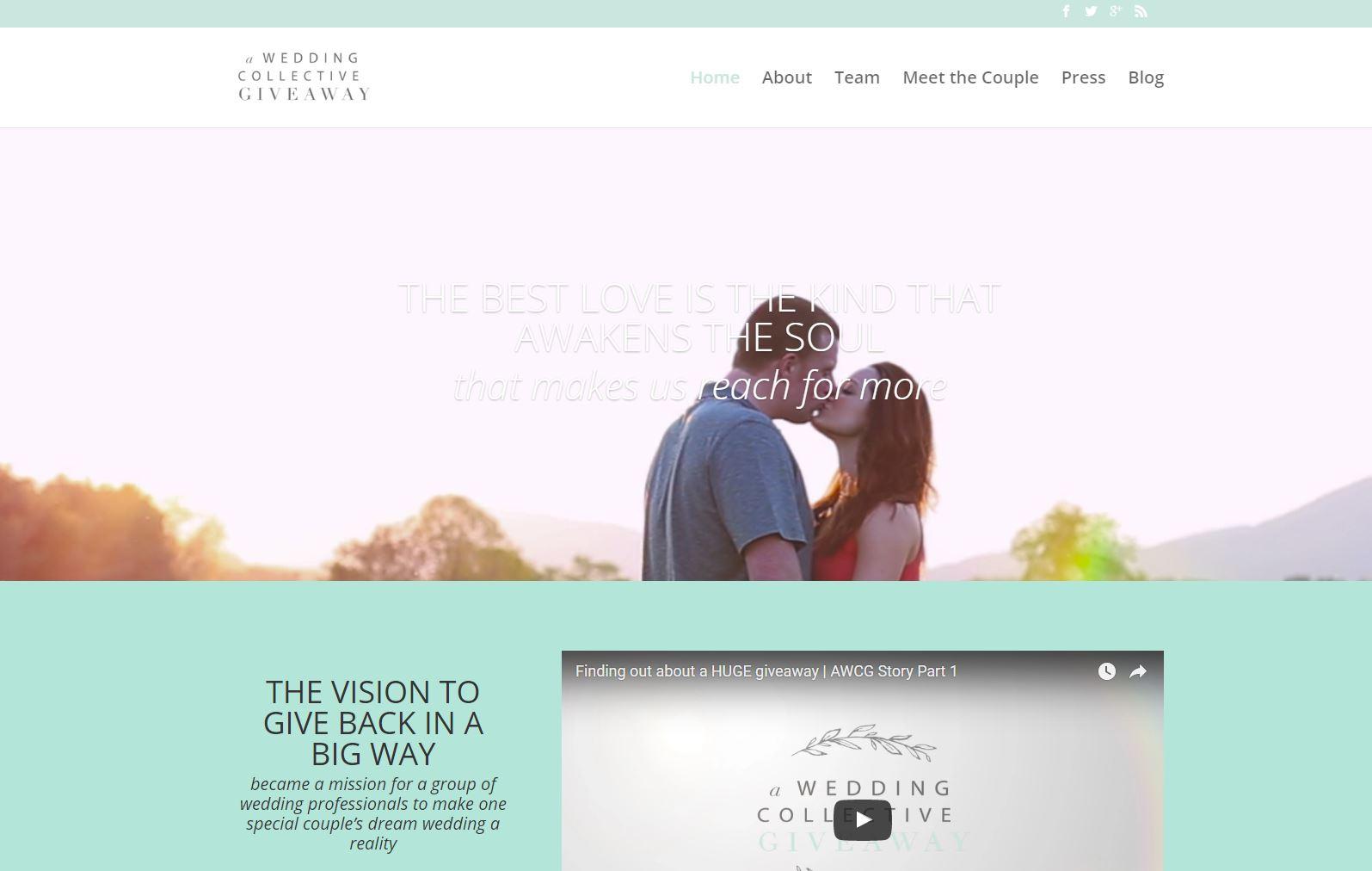 Wedding Vendor Website Design Awc1