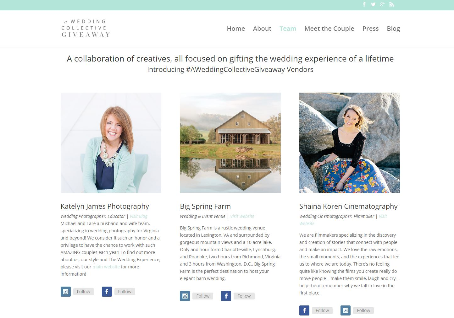 Wedding Vendor Website Design awc3