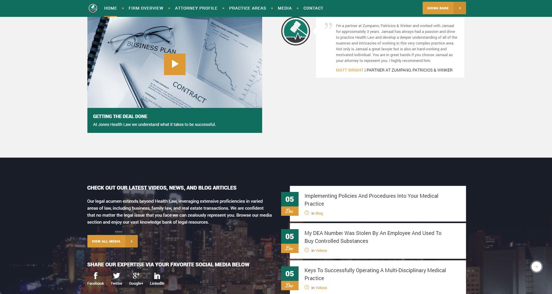 Attorney Website Design jhl2