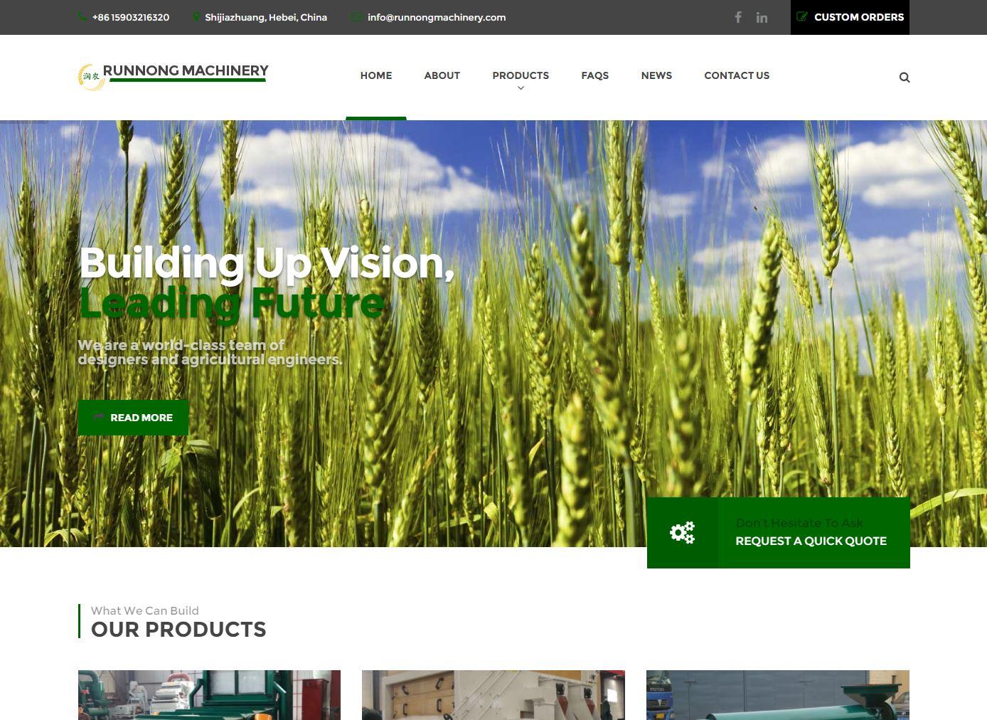 Industrial Website Design rm1