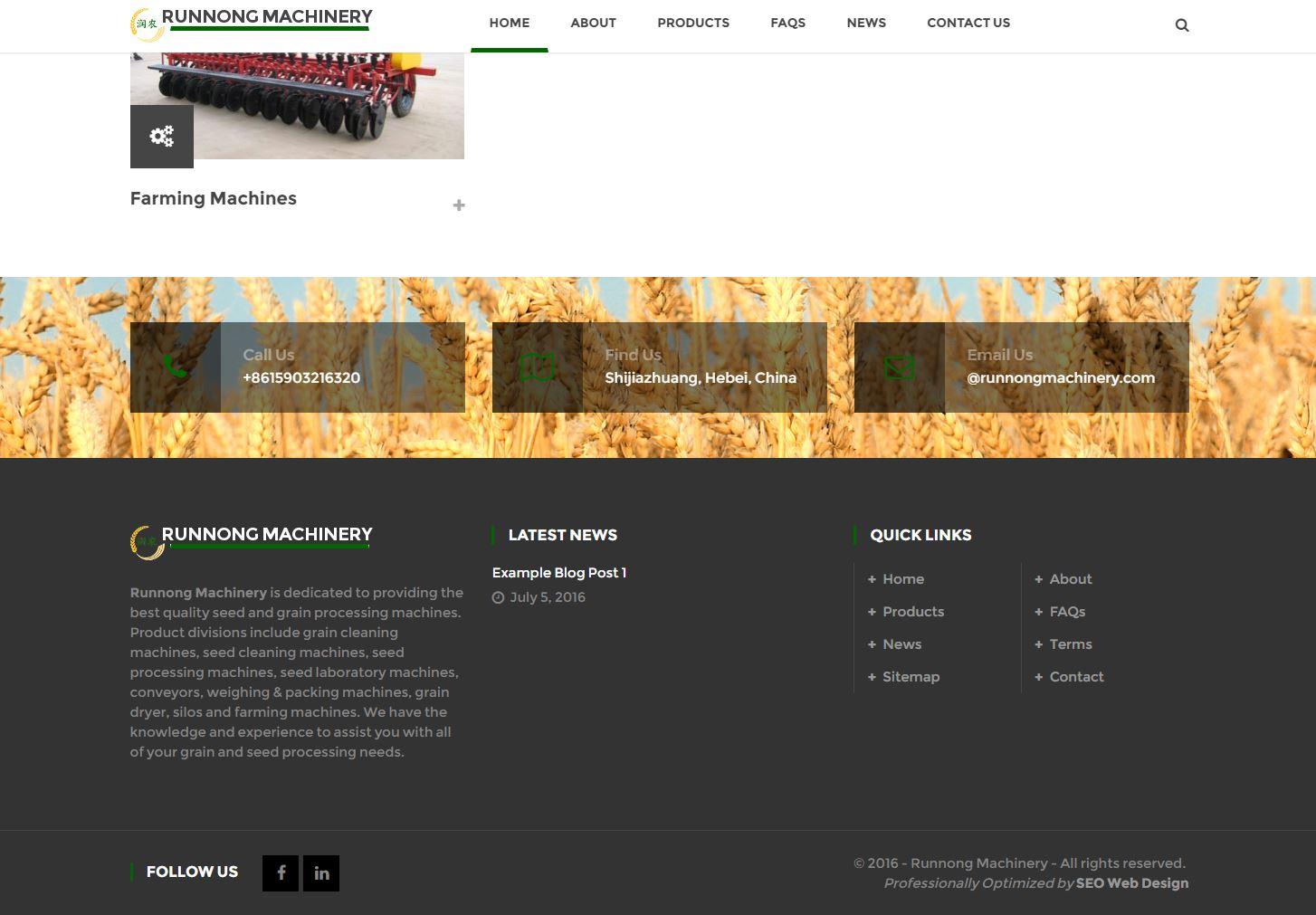 Industrial Website Design rm3