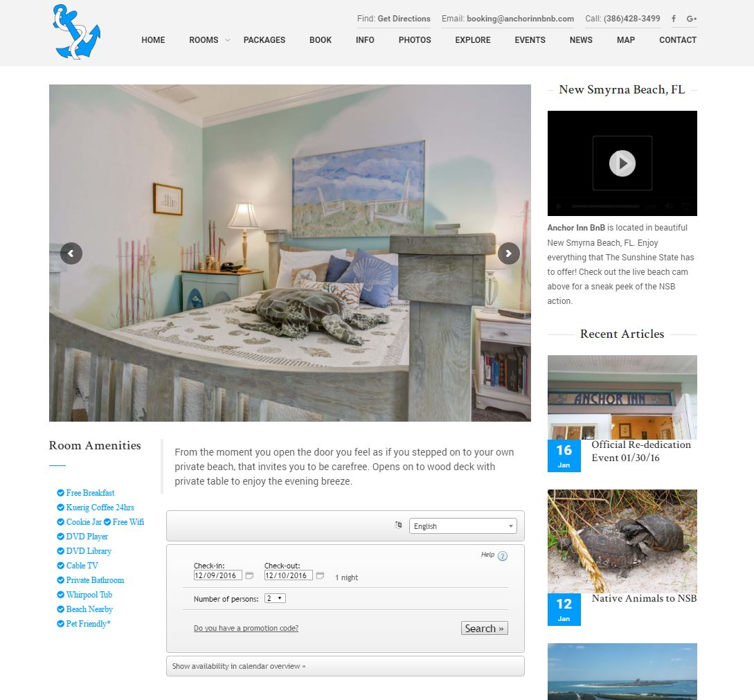 Lodging Website Design aibb2