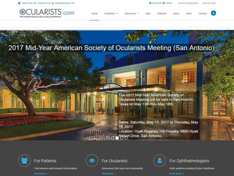 Medical Website Design ocu1