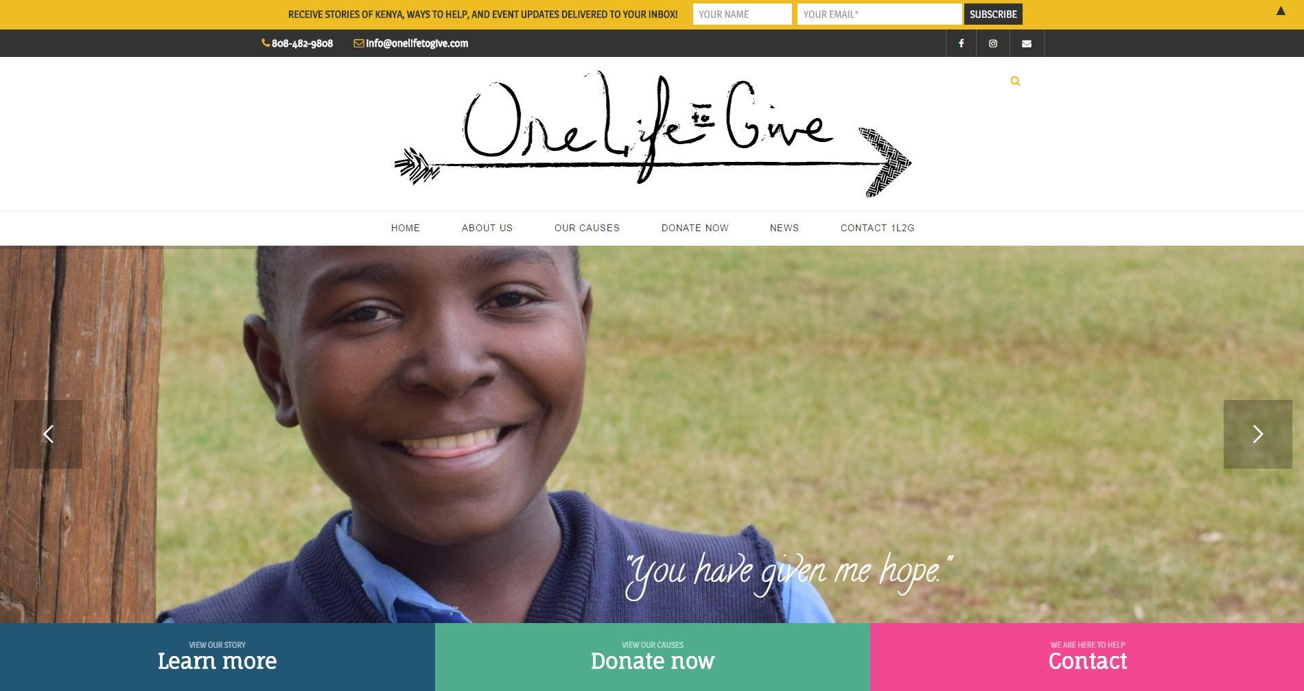 Non-profit Website Design 1