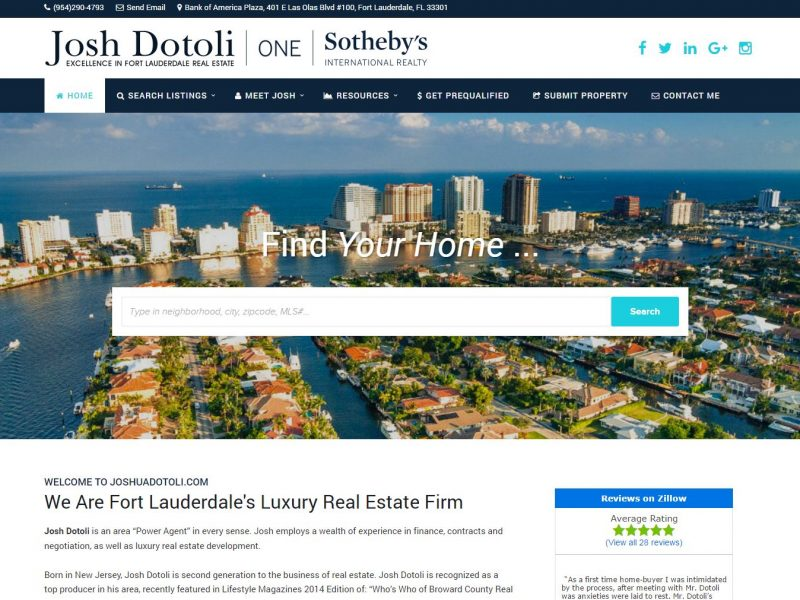 Real Estate Website Design jd1
