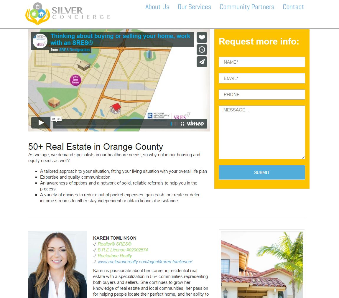 Senior Care Website Design scoc2