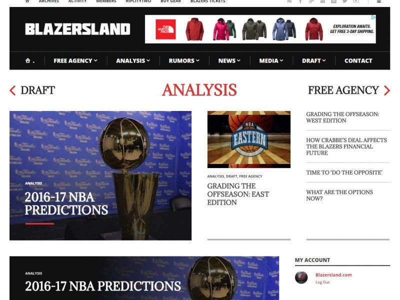 Sports Website Design bl1