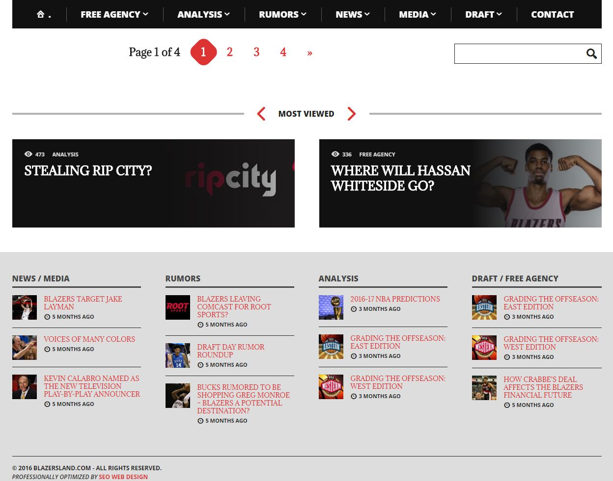 Sports Website Design bl3