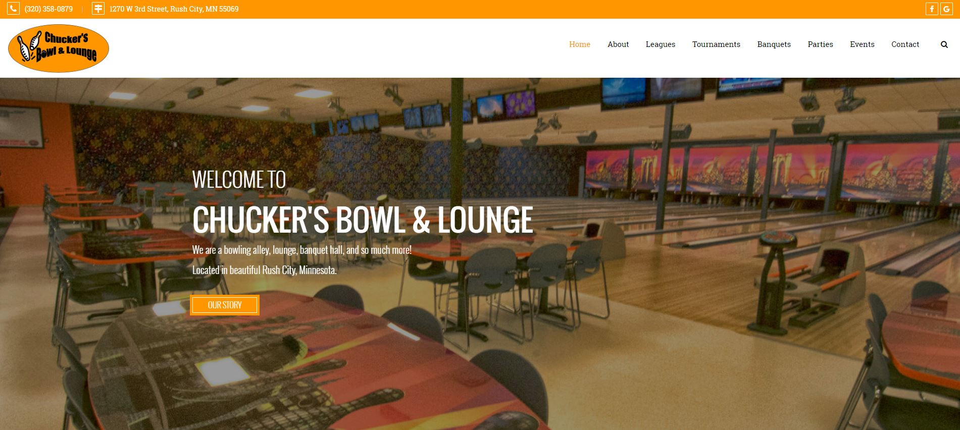 Bowling Entertainment Website Design cbl1