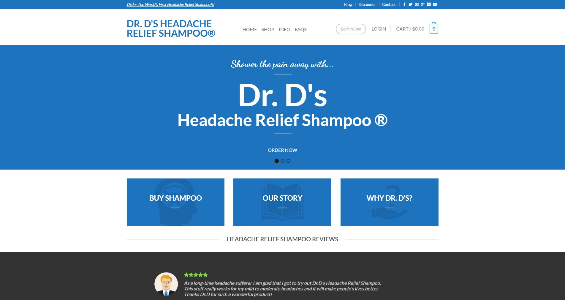 Medical E-commerce Website Design drd