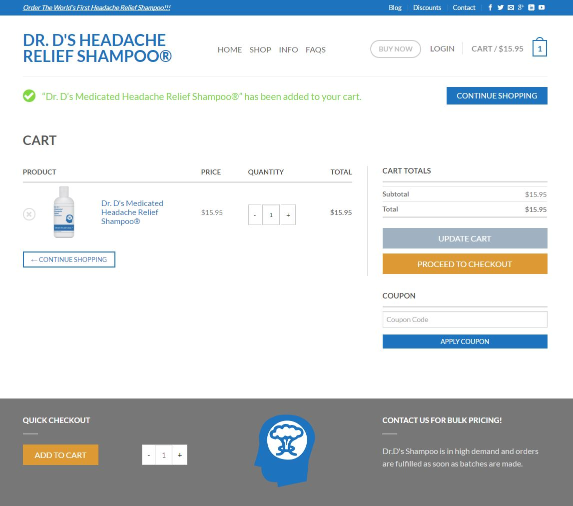 Medical E-commerce Website Design drd4