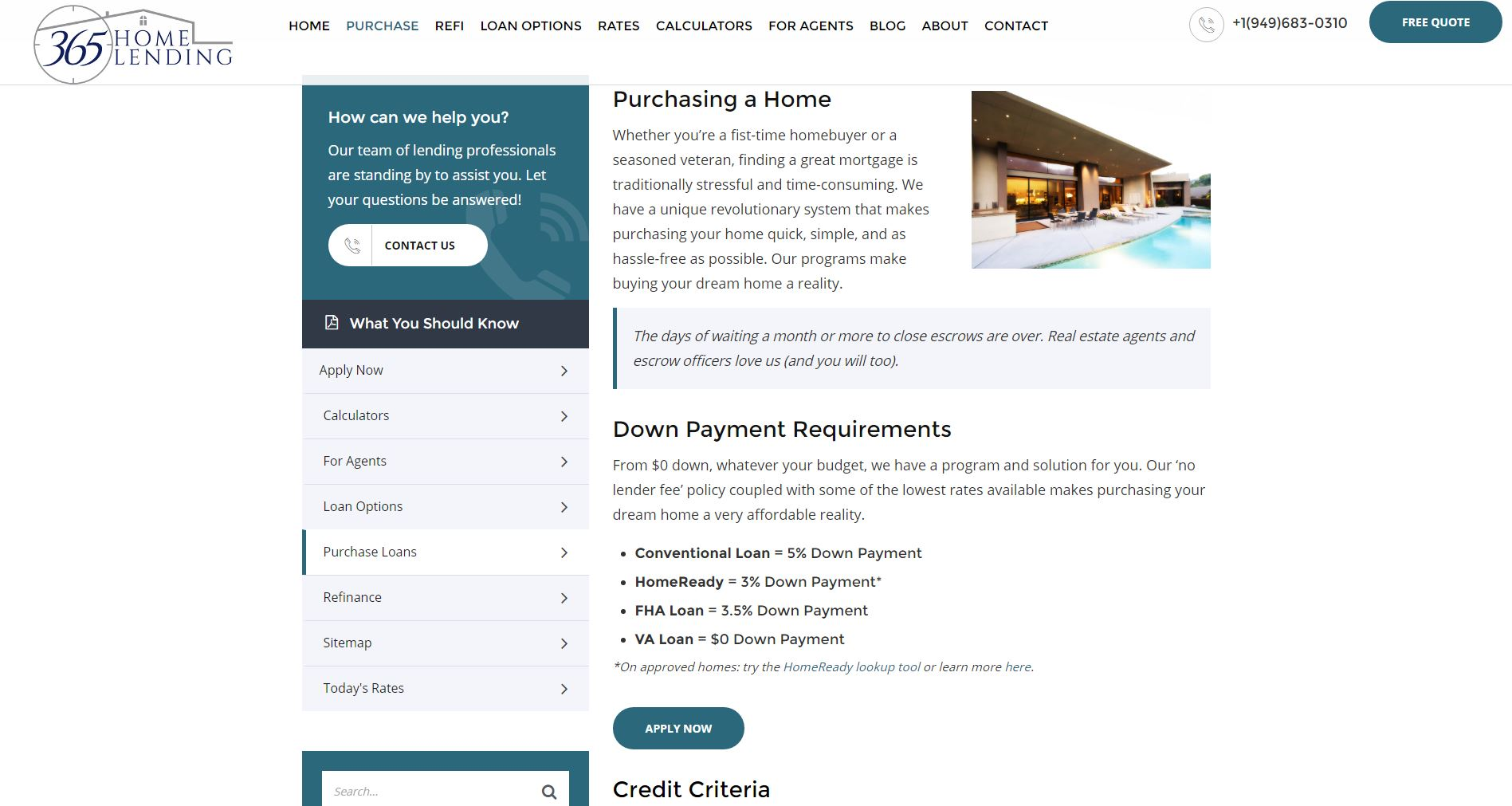 Mortgage Website Design 365hl2