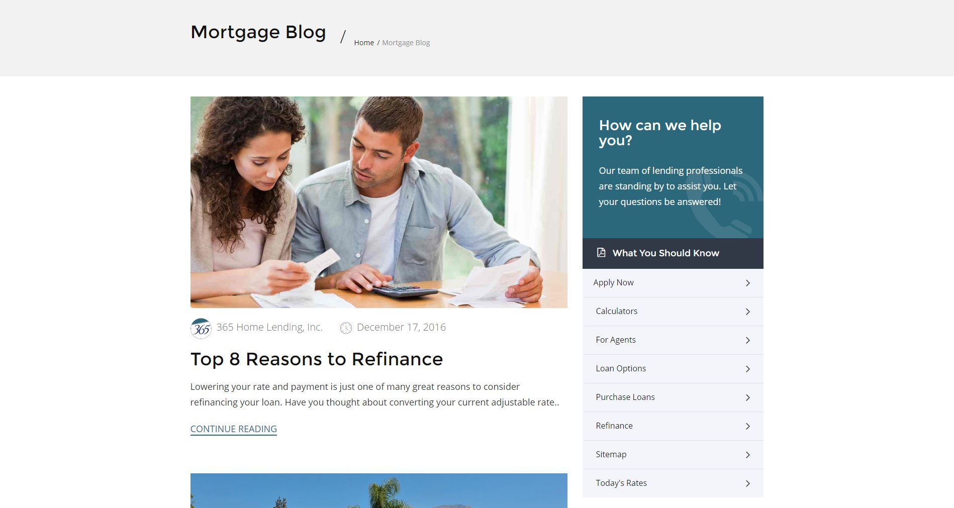 Mortgage Website Design 365h3