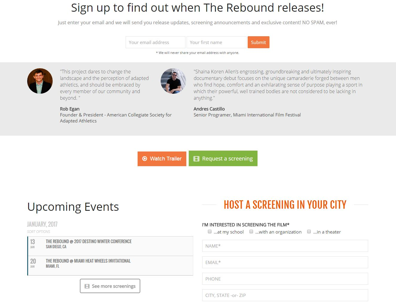 Movie Film Website Design rtf
