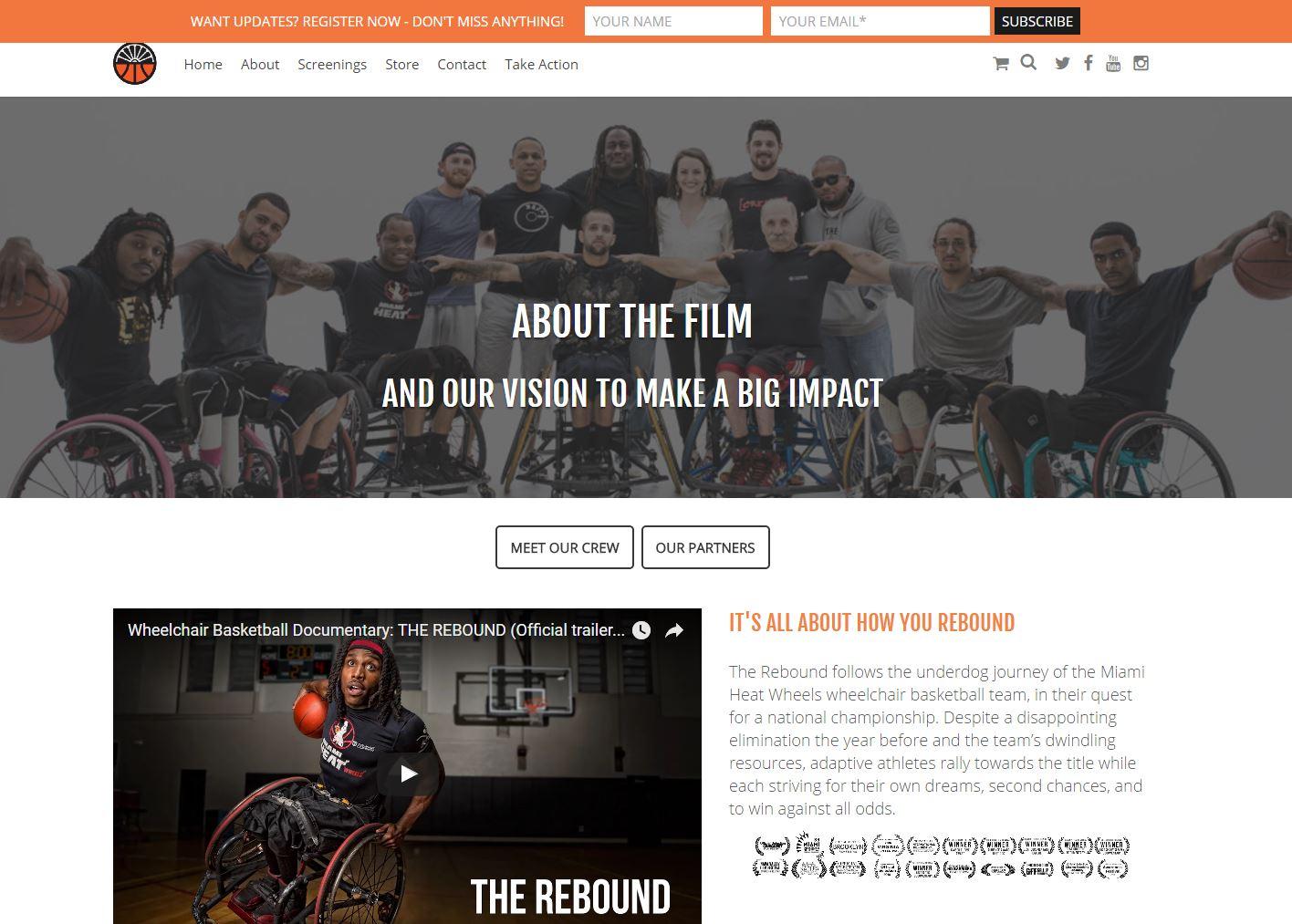 Movie Film Website Design rtf3